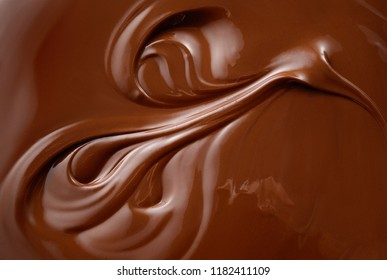 Chocolate background. Melted chocolate. Chocolate surface. Hot chocolate.