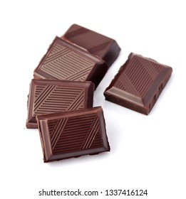 Chocolate bar  isolated on white background.