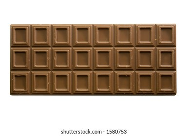 A Chocolate bar isolated on white background