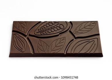 Chocolate bar on a white background.