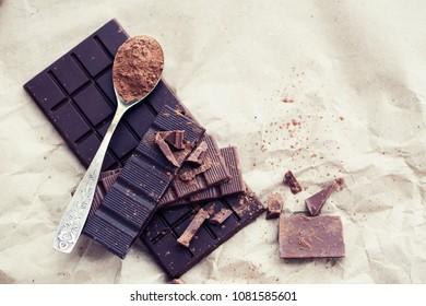 Chocolate bars background