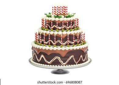 Birthday Cake Vector Illustration Cute Birthday Stock Vector