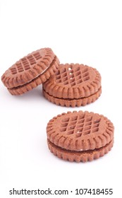 chocolate biscuit with cream