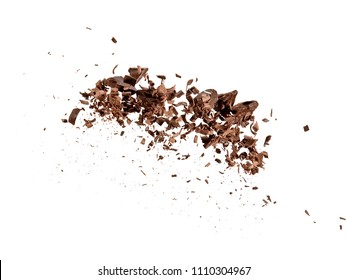 Chocolate bits and shavings up