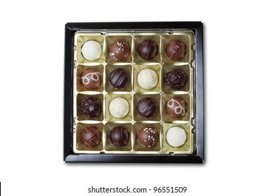 chocolate box isolated on white