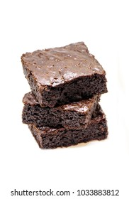Chocolate brownie. Homemade baking. Selective focus.