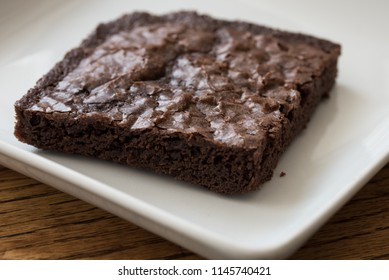 Chocolate Brownie on a Plate