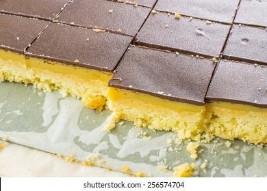 Chocolate butterscotch shortbread