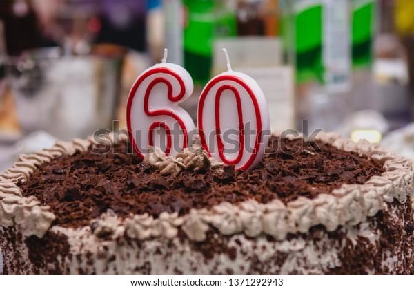 Fine Chocolate Cake 60Th Birthday Stock Photo Edit Now 1371292943 Personalised Birthday Cards Petedlily Jamesorg