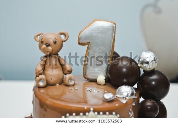 Sensational Chocolate Cake Baby Cake Smash Birthday Stock Photo Edit Now Funny Birthday Cards Online Inifodamsfinfo