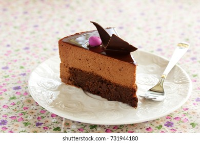 Chocolate cake with chestnut mousse brownie.