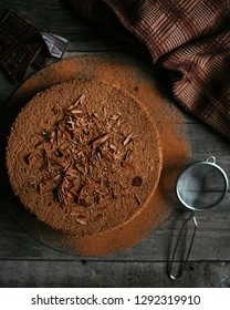 Chocolate cake with cocao