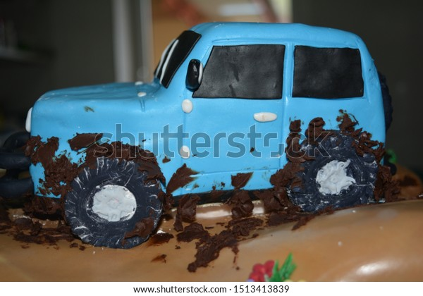 Amazing Chocolate Cake Field Machine Big Car Stock Photo Edit Now 1513413839 Personalised Birthday Cards Sponlily Jamesorg