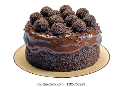 Chocolate cake with granules