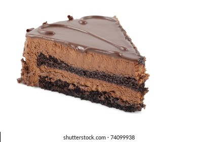 Chocolate cake isolated