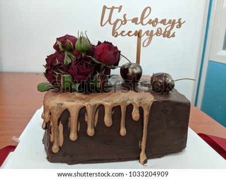 Chocolate Cake For Lover Anniversary