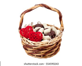 Chocolate Candies Red Hearts Gift Basket