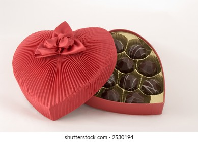 Chocolate candy is appealing in a fabric covered box