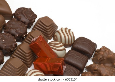 chocolate candy on white background 2