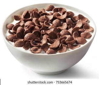 Chocolate cereal with milk