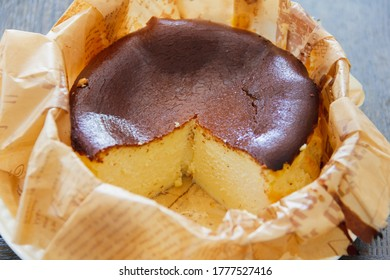 chocolate cheesecake was cut missing one portion,look delicious for bakery homemade