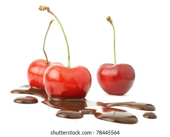 Chocolate and cherry fruits