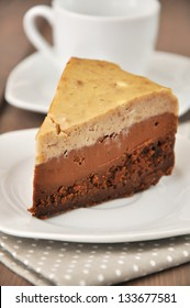 Chocolate Chestnut Layer Cheesecake