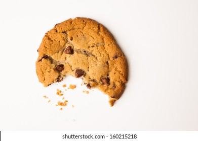 Chocolate Chip Cookie with a Bite Taken Out