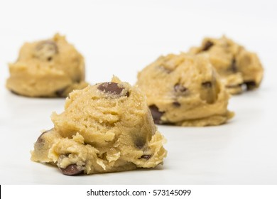 Chocolate Chip Cookie Dough On Wax Paper