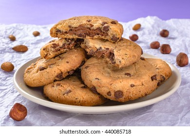 Chocolate chip cookies. Chocolate chip and almond,nut,hazelnut cookies.