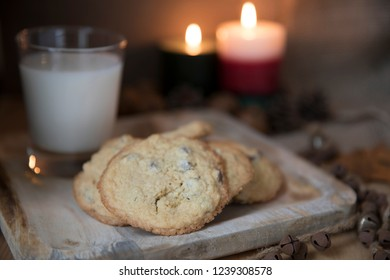 Chocolate Chip Cookies and milk for Santa.