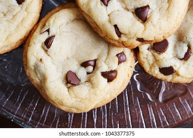 Chocolate Chip Cookies on a Platter