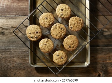 Chocolate Chip Cookies on wire rack