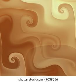 Chocolate coffee cream swirls