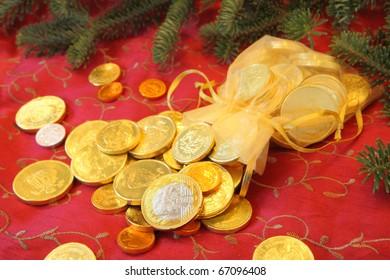 Chocolate Coins for Christmas