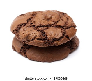 chocolate cookies isolated
