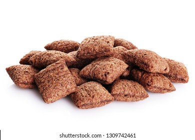 Chocolate corn pads  isolated on white background. With clipping path.