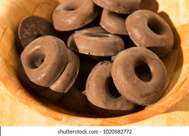 Chocolate covered jelly rings