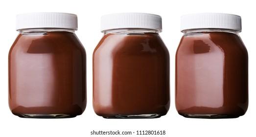 chocolate  cream bottle isolated on white background. 930 ml, 750 ml