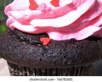 Chocolate Cupcake Pink Heart