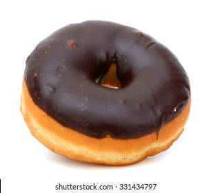 chocolate donut isolated on white