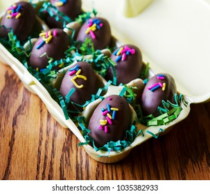 Chocolate easter candy from bakery