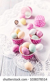 Chocolate Easter Eggs in Muffin Tins