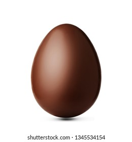 Chocolate Egg only on white background