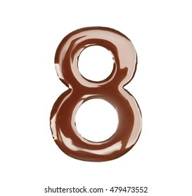 Chocolate figure eight isolated on white