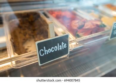 the chocolate flavor of ice cream, favorite dessert for kids