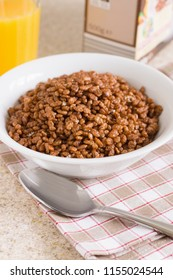 Chocolate flavoured crispy rice breakfast cereal