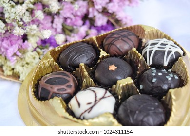 Chocolate gift for Valentine's Day.