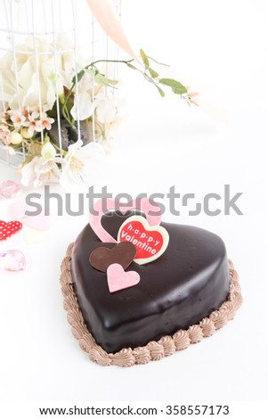 Chocolate Heart Valentine Cake On White Stock Photo Edit Now