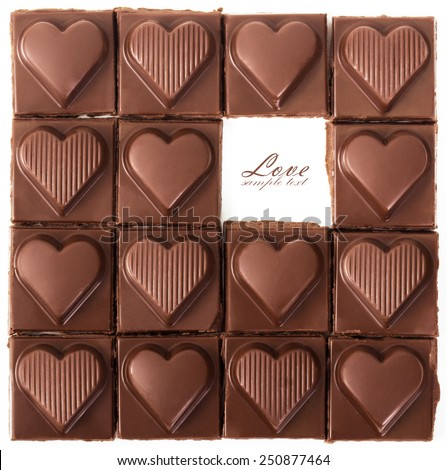 Chocolate Hearts Valentines Day Stock Photo Edit Now 250877464